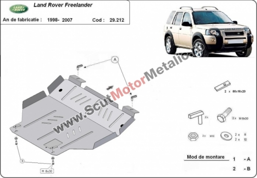 Scut motor metalic Land Rover Freelander (pana in 2007)