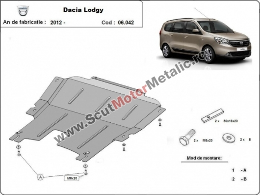 Scut metalic Dacia Lodgy